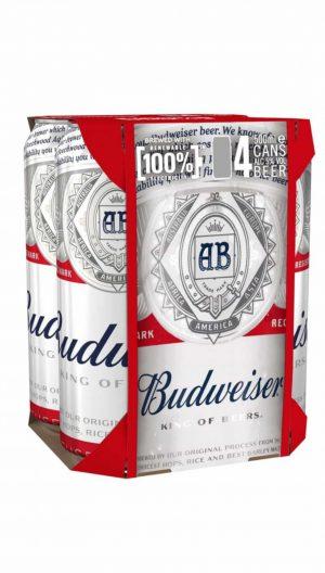 בירה באדוויזר פחיות רביעייה